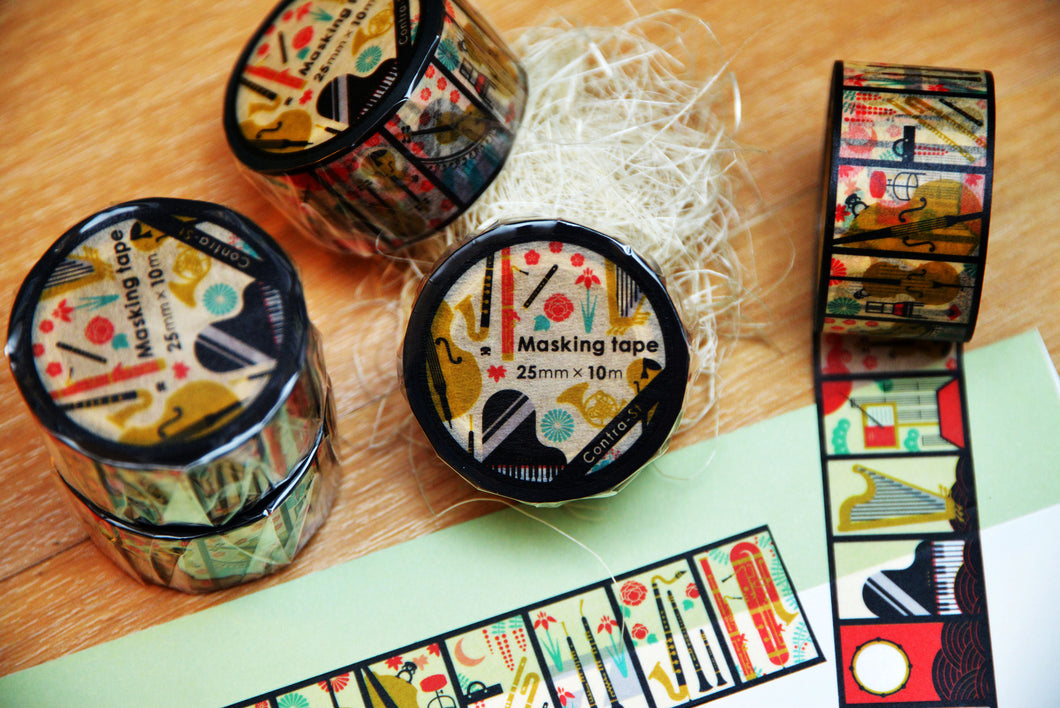 【Hanakaruta】Contra-st Masking Tape - SomeMusicDesign | Music Gifts