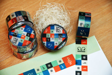 【Music Mosaic】Contra-st Masking Tape - SomeMusicDesign | Music Gifts