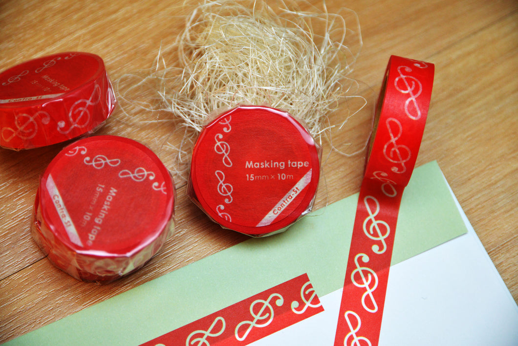 【Treble Clef】Contra-st Masking Tape - SomeMusicDesign | Music Gifts