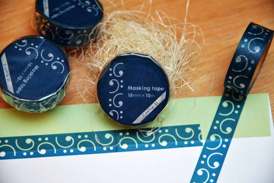 【Bass Clef】Contra-st Masking Tape - SomeMusicDesign | Music Gifts