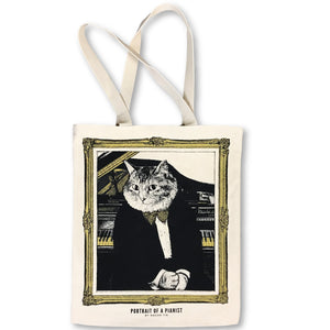 【Piano】Classicats-Canvas Bag|Hand-Made - SomeMusicDesign | Music Gifts