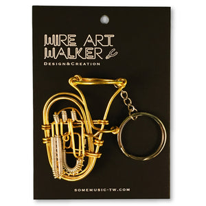 【Tuba】Wire Art Instrument Charm - SomeMusicDesign | Music Gifts