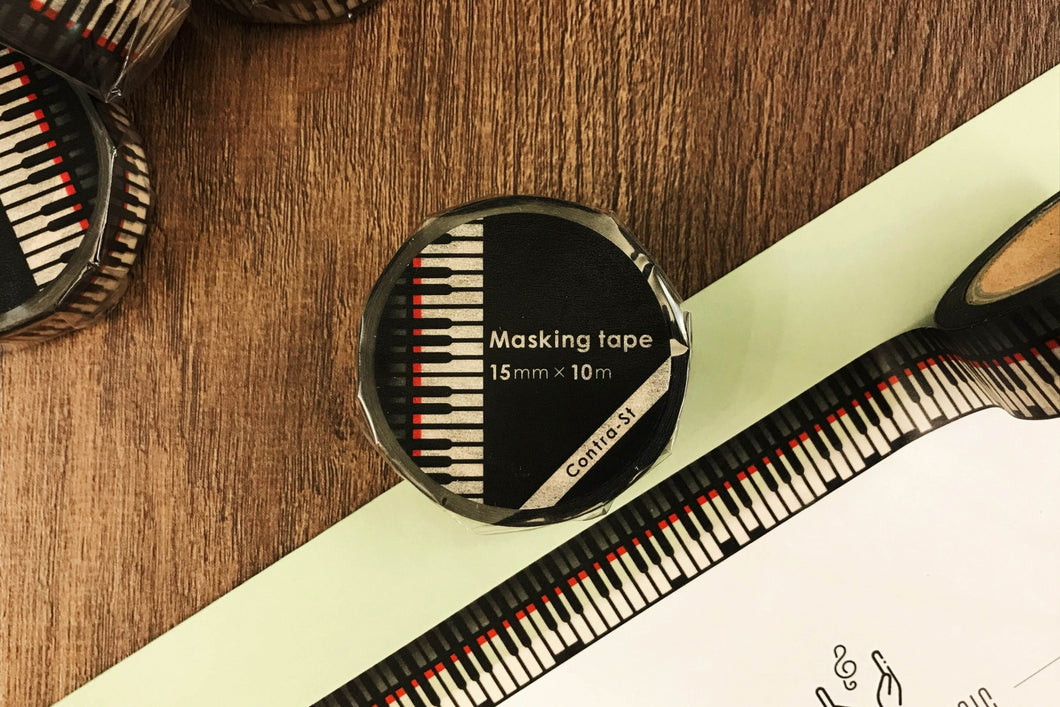 【Piano】Contra-st Masking Tape - SomeMusicDesign | Music Gifts