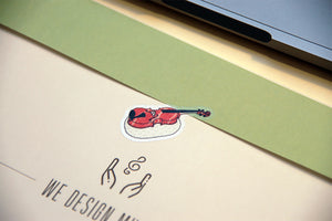 【Flute】Music Sushi - Stickers  (5 pcs) - SomeMusicDesign | Music Gifts