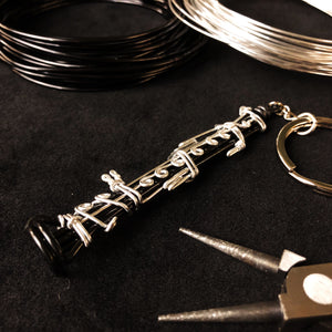 【Clarinet】Wire Art Instrument Charm
