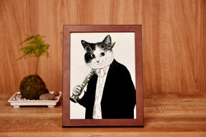 【Clarinet】Portrait of Classicats - SomeMusicDesign | Music Gifts