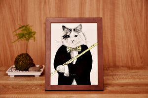 【Flute】Portrait of Classicats - SomeMusicDesign | Music Gifts