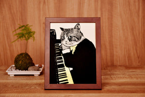 【Piano】Portrait of Classicats - SomeMusicDesign | Music Gifts