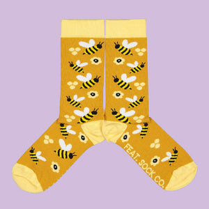 "A NEW ""BUZZING BEE"" IN THE FEAT. SOCK CO. SHOP."