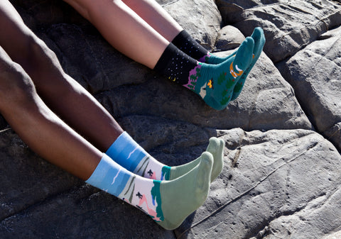 Awesome, quirky socks inspired by hiking and adventure, South Africa