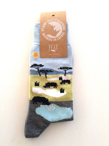 Funky socks for Rhino conservation