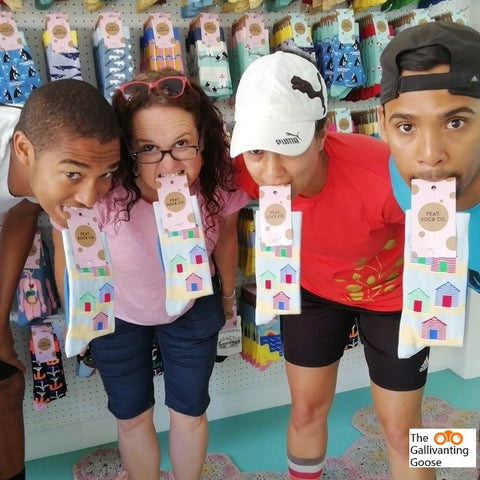 Scavenger hunt in Cape Town to celebrate the launch of a funky new sock range.