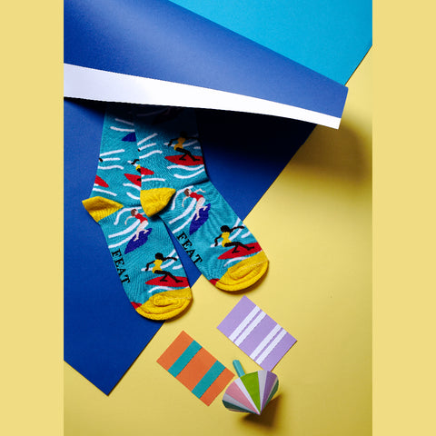Colourful surfing socks made in Cape Town, South Africa
