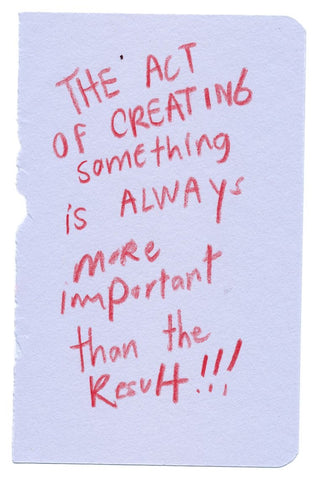 The act of creating
