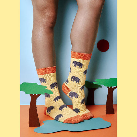 Funky elephant socks made in Cape Town, South Africa