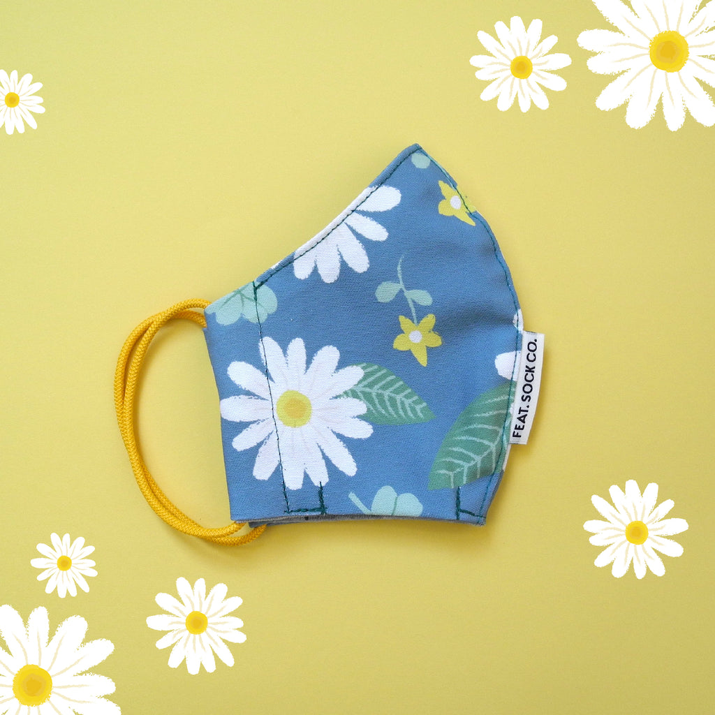Daisy Fabric Face Mask