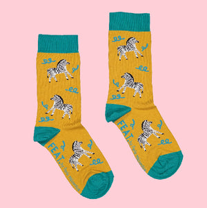 Ladies' Dancing Zebra socks by Perle Mécontice