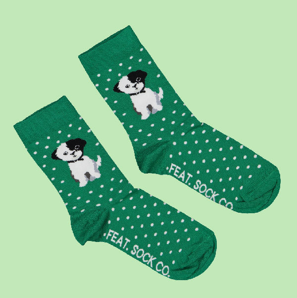 Men's Green Eddie Bear socks