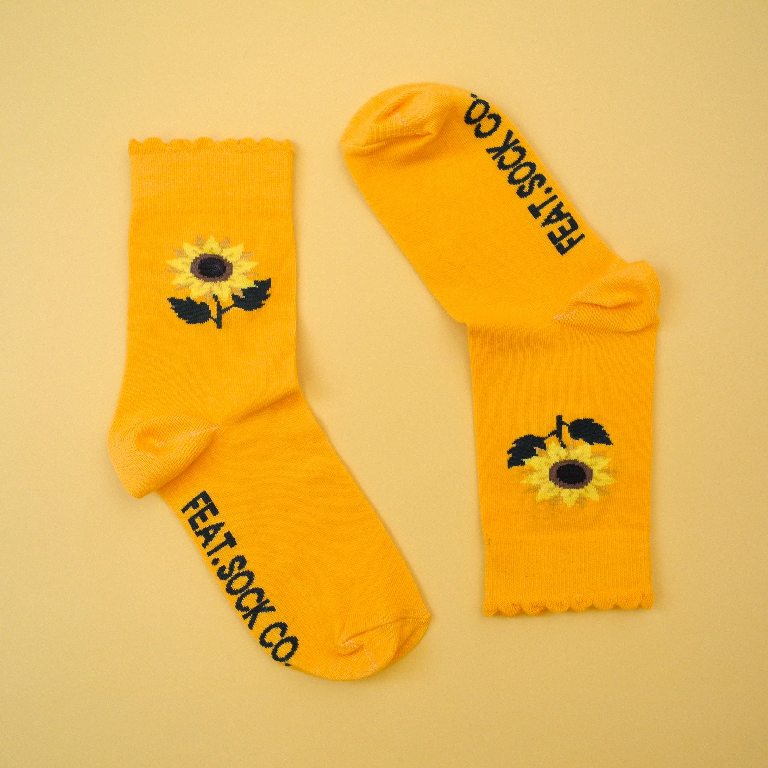Ladies' Sunflower frill socks
