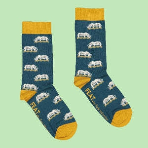 Men's Grazing Rhino socks by Perle Mécontice