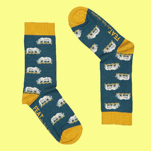 Ladies' Grazing Rhino socks by Perle Mécontice