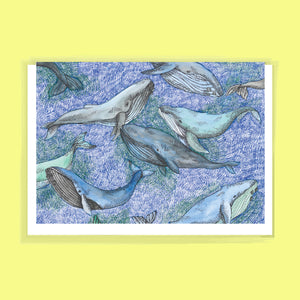 Whale Greeting Card by FEAT. sock co.