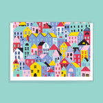 City Scene Greeting Card by FEAT. sock co.