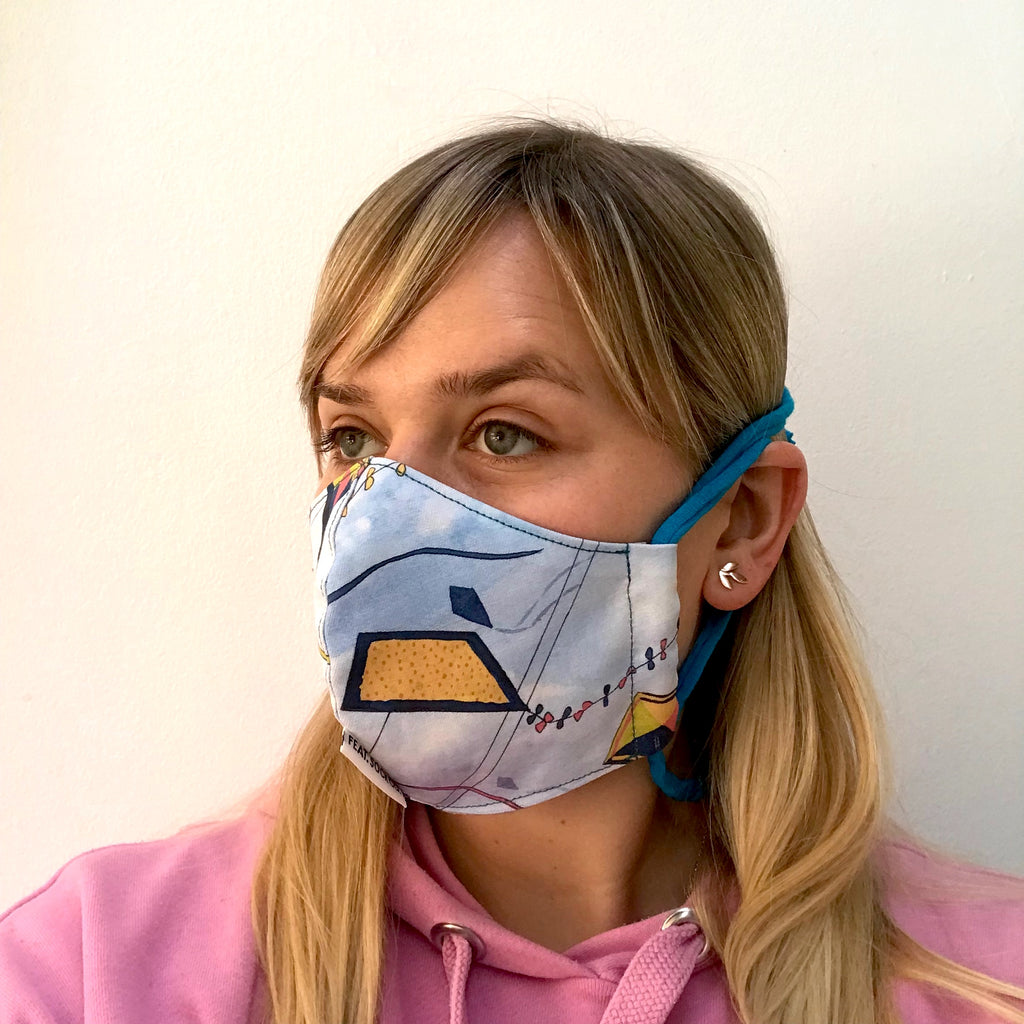 Kites Fabric Face Mask