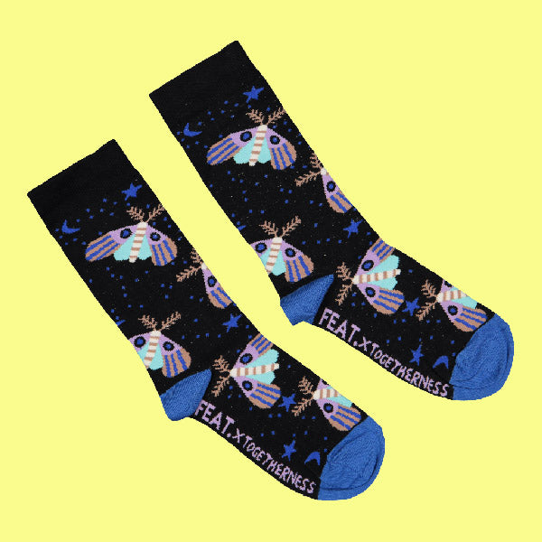 Ladies' Moth socks by Togetherness