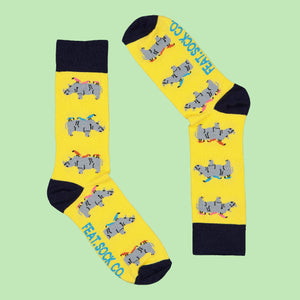 Men's Yellow Rhino & Birdy socks