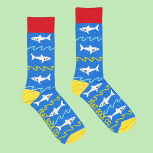 Ladies' Sharks & Waves socks
