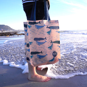 Reusable Whale Shopper - 100% recycled