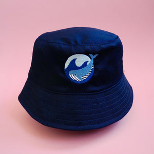 Navy Whale Bucket Hat