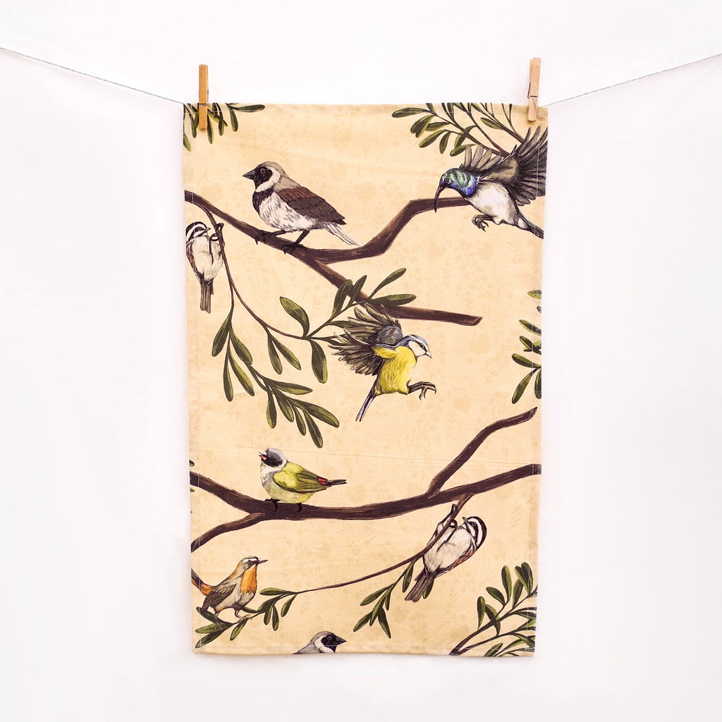 Birdwatching Tea Towel