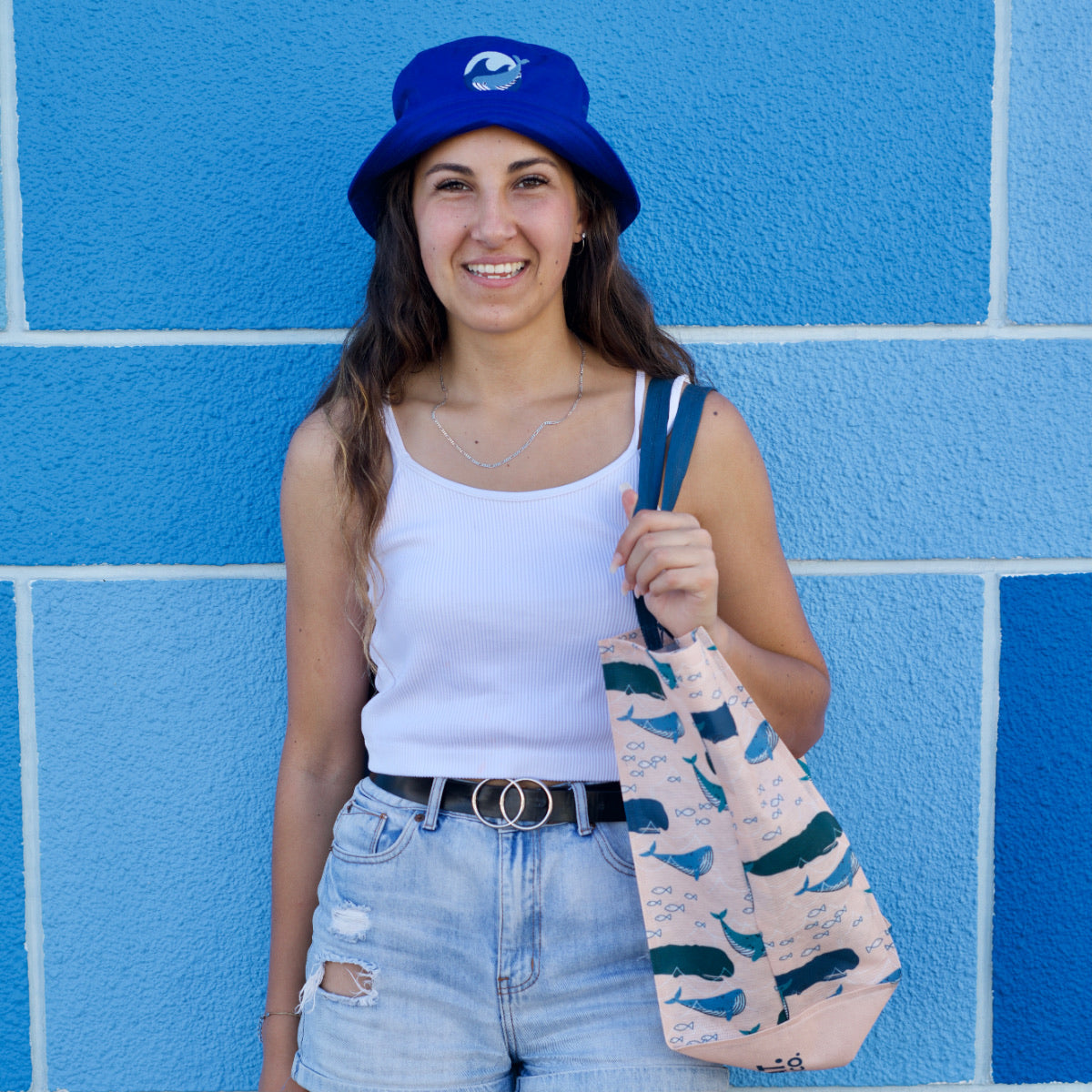 Royal Blue Whale Bucket Hat