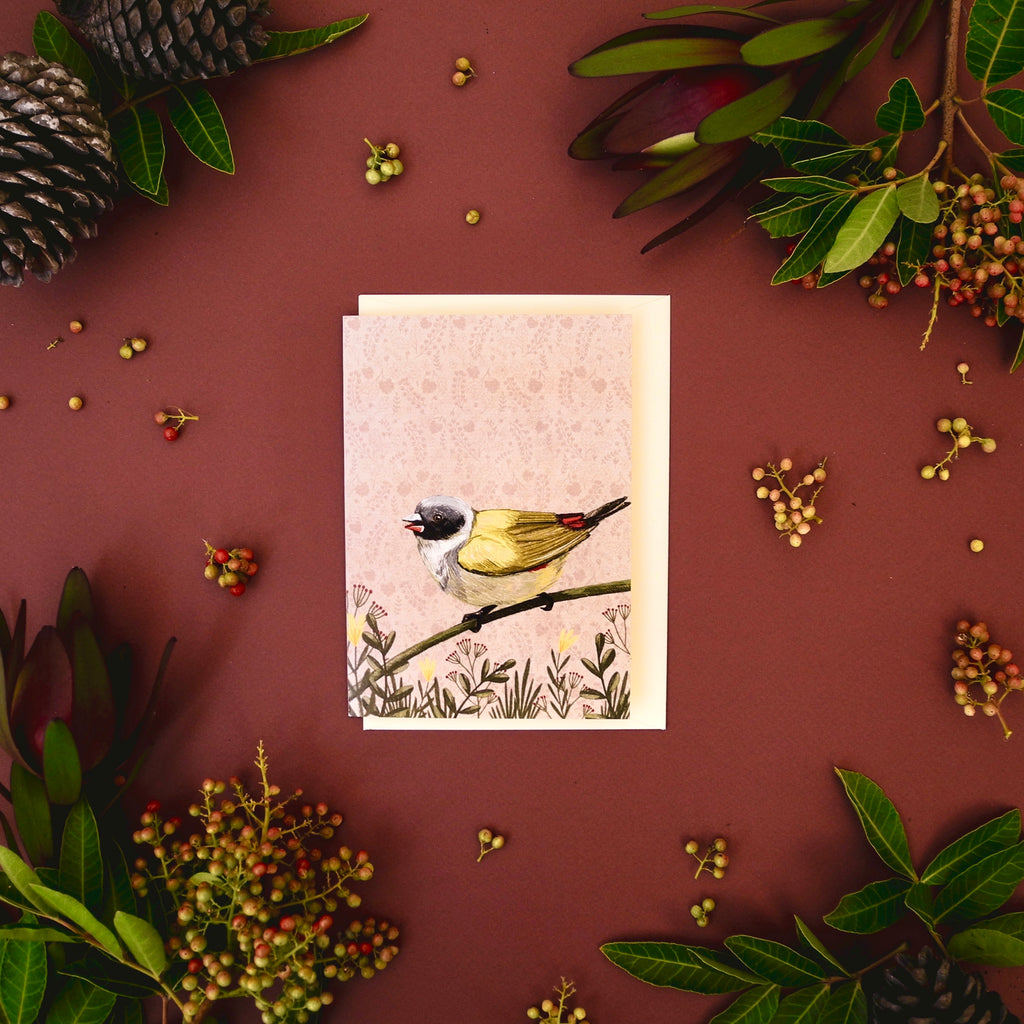 Swee Waxbill Greeting Card