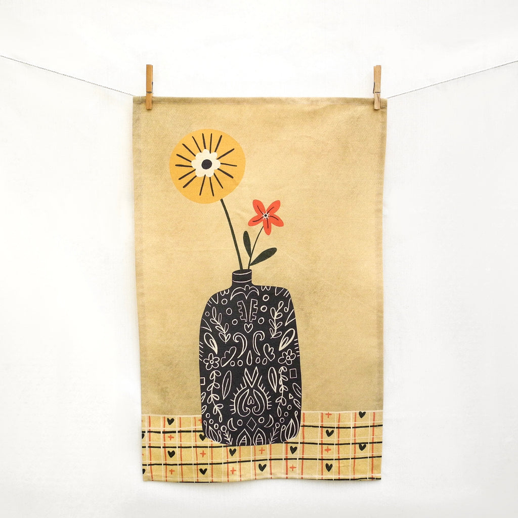 Flower Vase Tea Towel