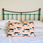 100% cotton Whale Pillow Case