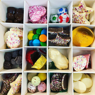 Copy of Christmas Pick n Mix Chocolates white box with Silver Stars