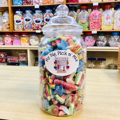 Personalised giant Fizzy Pick n Mix Jars