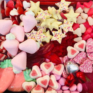 "Valentines Pick n Mix ""Love"" Black 9"" box"
