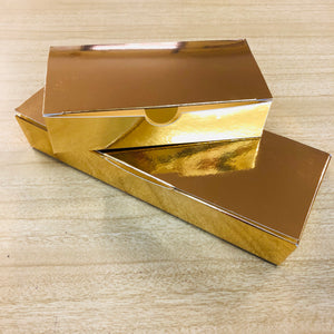 Chocolate Box in Gloss Gold of 6 Chocolates (your choice)