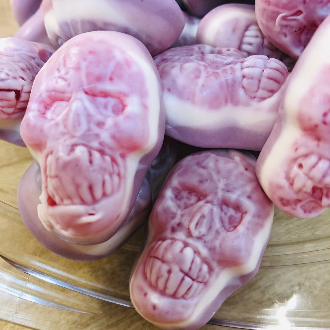 Skulls filled with jelly