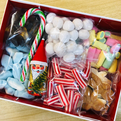 Individual White Christmas Loose Jar Pick n Mix Box