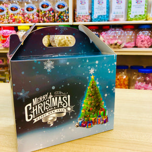 Favourites Individual Blue Christmas Tree Chalet  Box