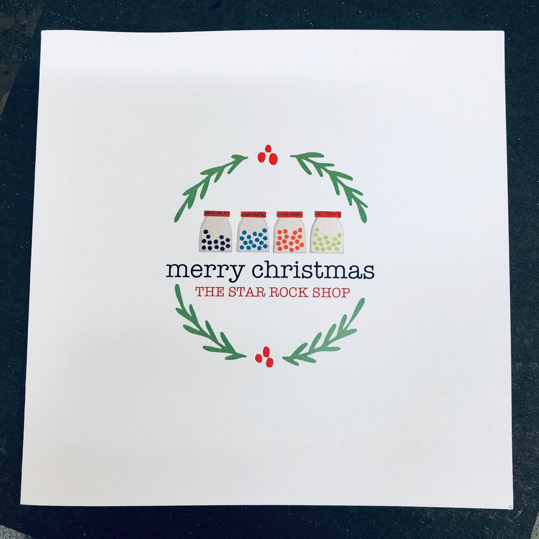 Add a Christmas Card for your personal gift greeting
