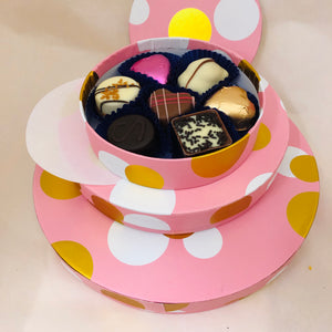 Pretty Pink Chocolate Box of 7 Chocolates (your choice)(Vegan Option)