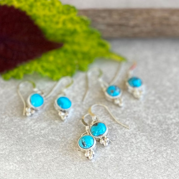The Black Rock Turquoise Earrings