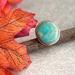 The Pyramid Rock Sterling Silver and Turquoise Ring