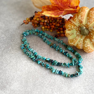 "The Tijeras Turquoise Necklace (22"")"